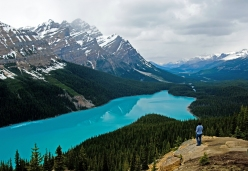 Banff Lake in de Rocky Mountains in Canada