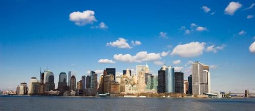 De skyline van New York City