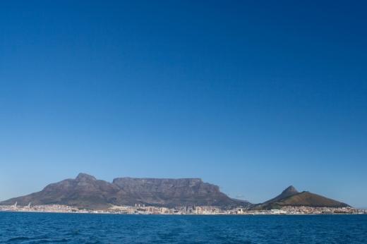 De Tafelberg, met aan de voet Kaapstad